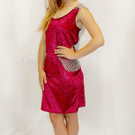 Red Crushed Velvet Chain Back SMALL