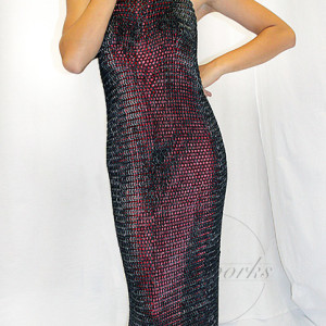 Full Chainmail Backless Cocktail Dress (Black) SMALLcopy